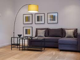 Friheten Corner Sofa Bed Bomstad Black by Small Living Room Present Yellow Drum Arch Floor Lamp Over Gray