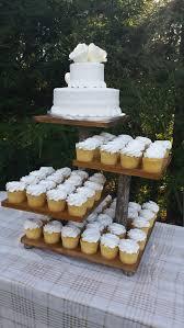 Rustic Cupcake Stand Log Cake