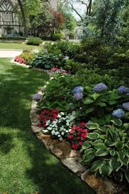 Rustic Flower Beds With Rocks In Front Of House Ideas Best On Pinterest Faadeddcbaa
