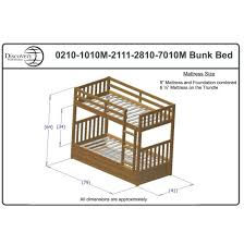 discovery world furniture twin over twin white mission bunk bed