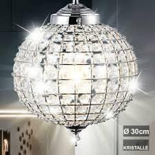 details zu hänge le kristall kugel esszimmer pendel leuchte decken strahler orientalisch