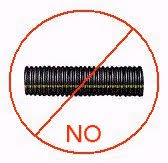 do not use corrugated perforated plastic drain pipe in a