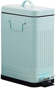 ranranjj deluxe step fußpedal retro mülleimer große kapazität küche badezimmer schlafzimmer rechteckiger mülleimer 10 liter