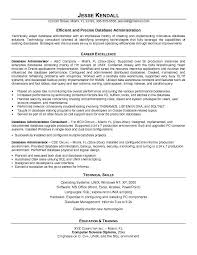 Database Management Resume