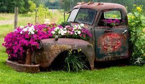 Flower Filled Old Trucks