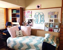 Dorm Room Decor Wooden Monogram Wall Hanging Ideas