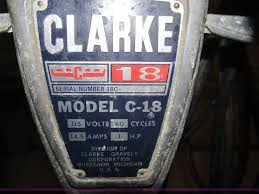 Clarke Floor Buffer Pads by 2 Clarke C18 Floor Buffer Item Bd9667 Sold December 2