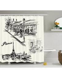 Paris Eiffel Tower Bathroom Accessories by Holiday Sale Eiffel Tower Decor Shower Curtain Set Paris Sketch