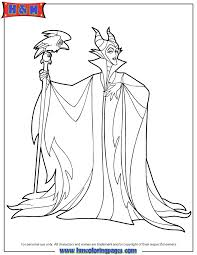 Sorceress Maleficent Coloring Page