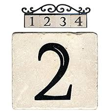 nach az classic 2 marble house address number tile