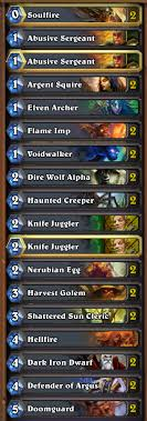 warlock aggro deck 2016 hearthstone how do i play against hunters as a zoo warlock arqade