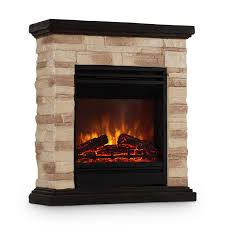 Electric Fireplace 1800w Standing Antique Decor Fire Polystone