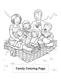 Lovely Vacation With My Family Colouring Page