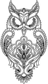Free Coloring Page Adult Difficult Owl