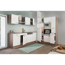 respekta küchenzeile kb370eywmigke 370 cm weiß eiche york nachbildung