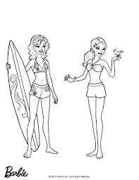 FALLON AND MERLIAH At Malibu Beach Barbie Printable Color Online Print
