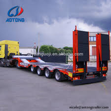 100 Truck Bed Trailers Heavy Loading Low Bed Trailers 6080100 Tons For Sale South Africa