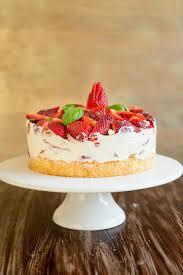 einfache erdbeer basilikum torte gateau fraises basilic tout simple
