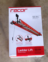 Racor Ceiling Mount Bike Lift by Racor Ladder Lift Ldl 1b It U0027s Out Of Site Tools In Action