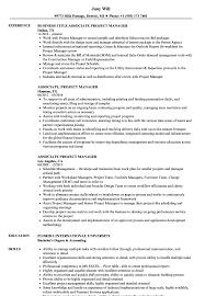 100 Assistant Project Manager Resume Associate Samples Velvet Jobs Free Dougmohns