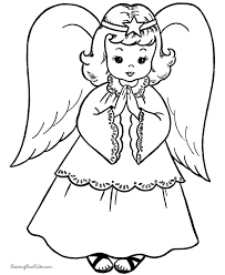 Free Printable Christmas Coloring Sheets Of Angels