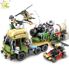 539pcs Military Series Oil Tanker Building Blocks Compatible Legoed ...