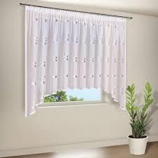 bestickte gardine für wohnzimmer oder küche