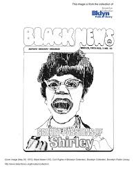 Free Printable Coloring Pages From The Brooklyn Library 1970 Shirley Chisholm Indie Magazine Cover