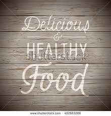 Rustic Wood Background With Hand Drawn Lettering Slogan For Food And Drinks Vector Illustration