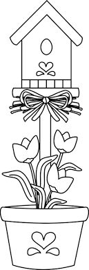 Coloring Pages Of Bird Houses
