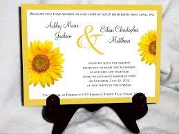 Elegant Sunflower Wedding Invitations Invitation Kits The Wall Mag
