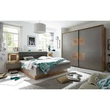 schlafzimmer set komplett bett schrank nako wildeiche basalgrau taupe led ebay