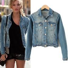 HOT FASHION CLASSIC STYLE WOMENS DENIM JACKET BLOUSES BUTTON COAT JEANS On The Hunt