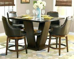 High Top Dining Table Set Chairs Throughout Chair Height Glass Room Sets