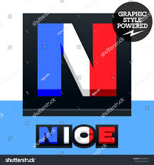 Vector Set French Flag Alphabet File Stock Vector Royalty Free