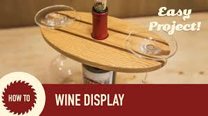 how to make a wine display perfect for craft shows and holiday