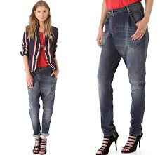 R13 Denim New YorkWomens Crossover Jeans Slouchy Fit Asymmetrical Closure Stretch Twist Whiskers Worn