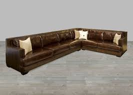 Leather Sectional Artisan Leather Sectionals Living Room Leather