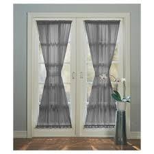 emily extra wide sheer voile patio door curtain panel white 59 x72