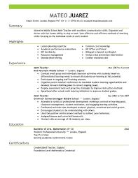 Teacher Education Emphasis Teaching Resume Template