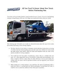 All You Need To Know About Tow Truck By Xtreme Towing - Issuu