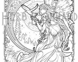 Herb Leonhard Adult Coloring Page Faerie Nouveau Book Digital