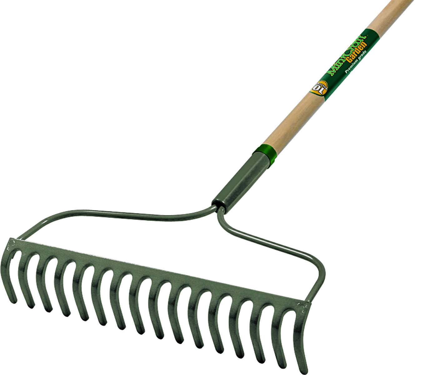 Mintcraft 33271 16-Tine Bow Rake with Wooden Handle