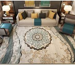 dreidimensionaler schnitzteppich teppich für wohnzimmer