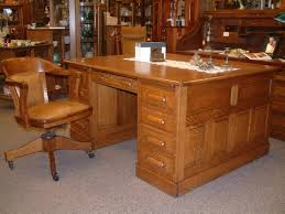 Salado Creek Antiques Quartersawn Oak Partners Desk