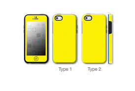 Yellow Matte Antibacterial Otterbox Symmetry iPhone 5C Skins