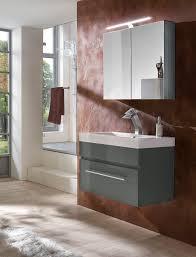 2tlg badezimmer set spiegelschrank grau 80 cm lunar