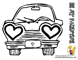 Cartoon Car Valentines Picture To Print At YesColoring