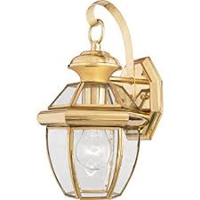 quoizel ny8315b newbury light outdoor wall lantern polished brass