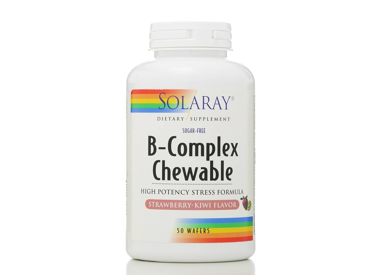 Solaray B-complex Chewable - Strawberry Kiwi